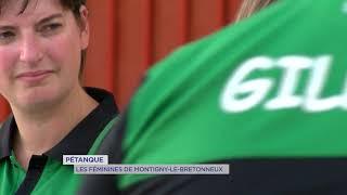 Pétanque : Les femmes de Montigny