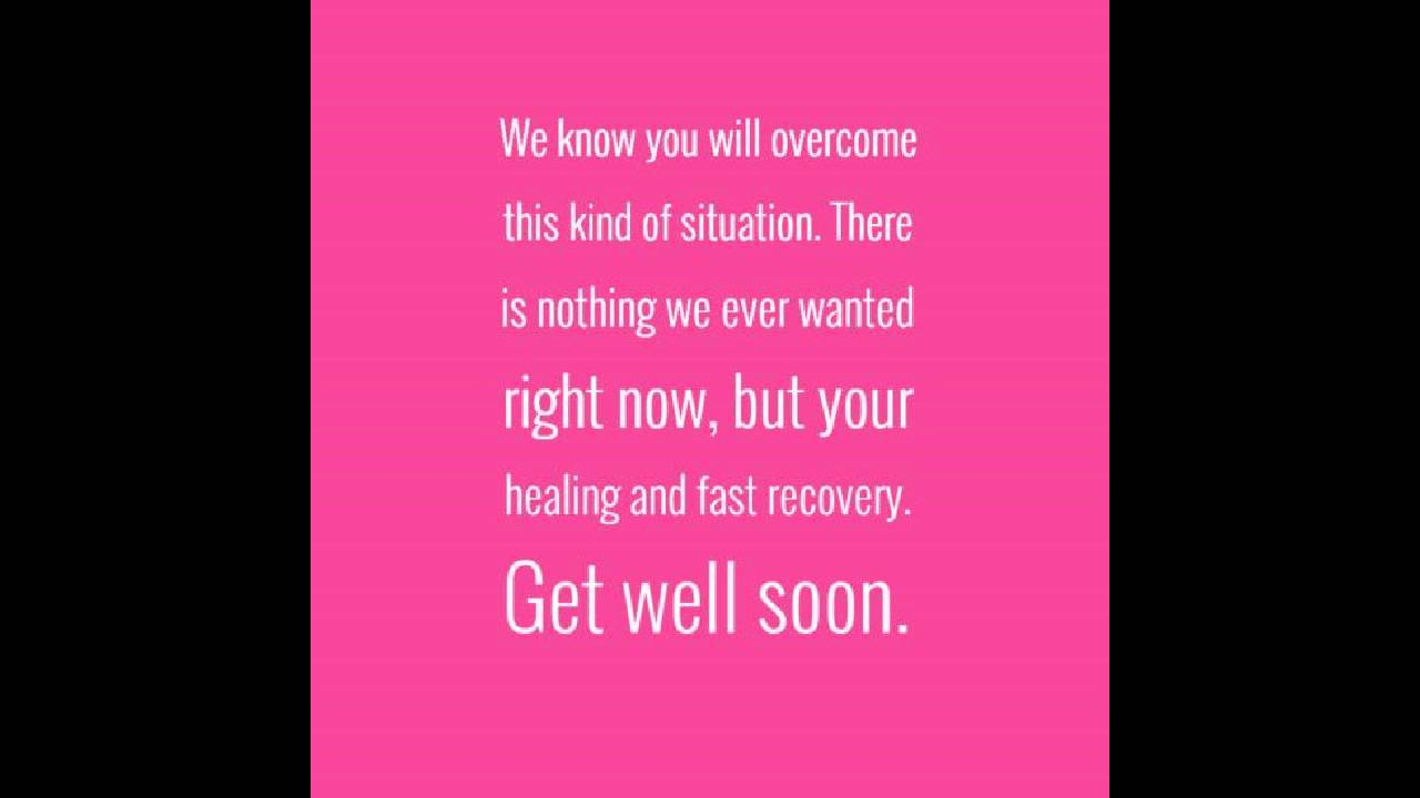 Feel Better Soon Quotes Hope You Feel Better Soon Quotes  Youtube
