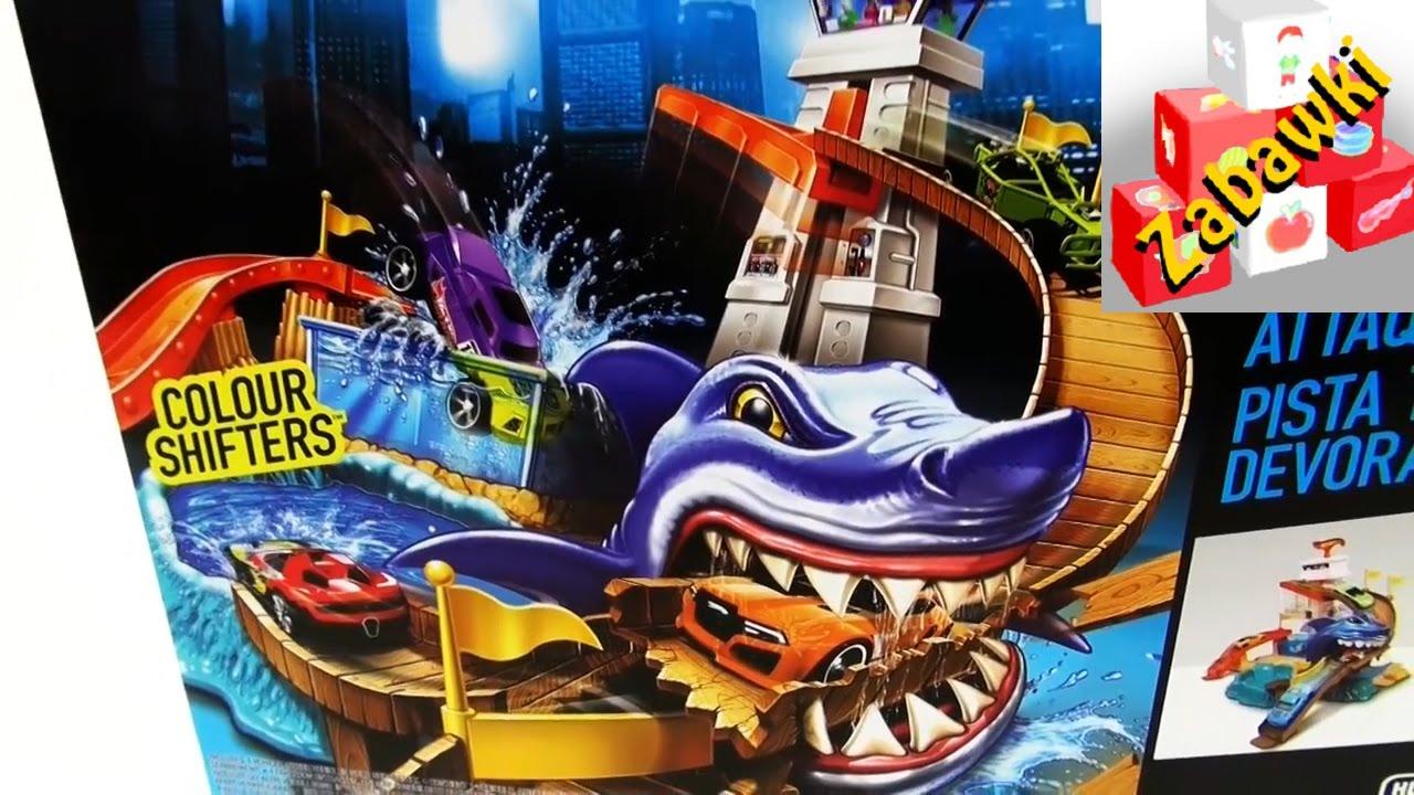 Hot Wheels Shark Attack Zestaw Atak Rekina Color Changers