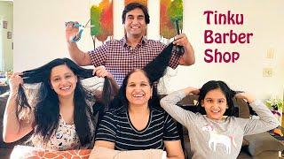 Sabke baal katega tera Tinku - The Lockdown Barber   Lalit Shokeen Vlogs