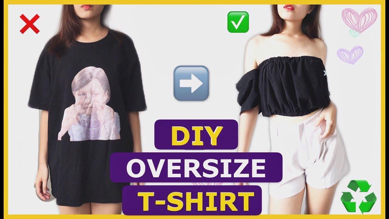 TỰ LÀM ÁO TRỄ VAI TỪ ÁO PHÔNG NAM / DIY OLD TO NEW / CLOTHINGS HACKS / EASY