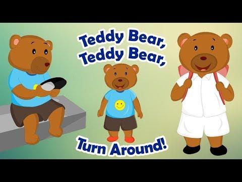 Teddy Bear Teddy Bear Turn Around   English Nursery Rhyme Song For Children