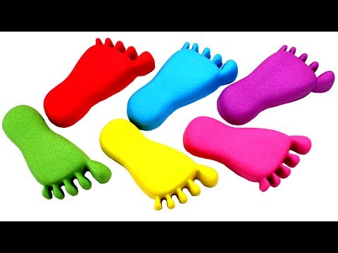 Thumbnail: DIY Kinetic Sand Feet Learn Colors with Kinetic Sand Video Compilation for Kids