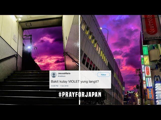 Bakit naging VIOLET ang kalangitan sa JAPAN? (#PrayForJapan)