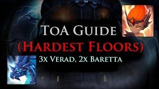 summoners war toa hardest floors 3x verad 2x baretta stage 95 lyrith rotation
