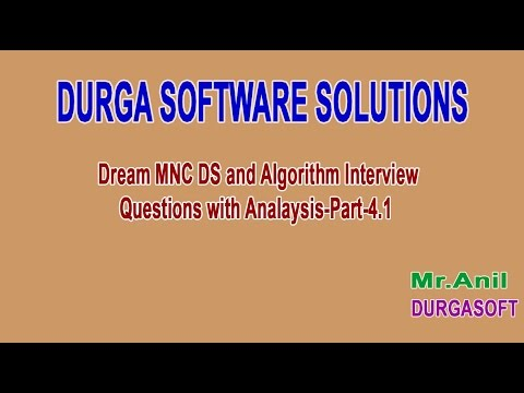 Dream MNC DS and Algorithm Interview Questions with Analysis Part 4 1
