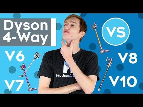 Dyson V6 vs.  V7. vs  V8 vs.  V10 — 4-WAY VACUUM WAR