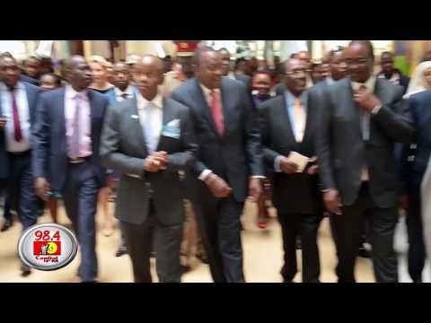 The opening of Two Rivers Mall by Uhuru Kenyatta