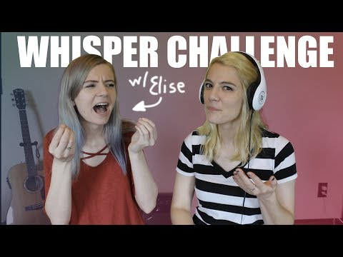 WHISPER CHALLENGE WITH EDEN AND ELISE ECKLUND