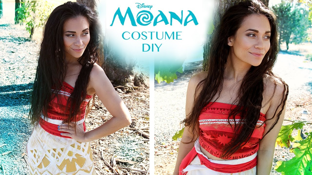 Disneys moana costume tutorial diy no sew youtube solutioingenieria Image collections