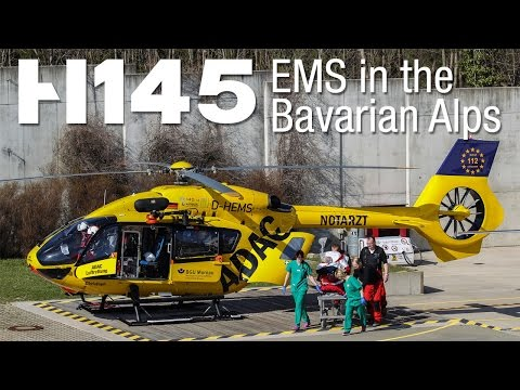 H145 impressions: EMS in the Bavarian Alps