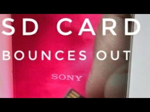 Xperia sd card bounces out : solved