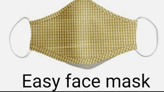 New face mask sewing tutorial Make fabric face mask at home DIY homemade face mask