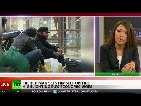 Frenchman sets himself on fire and dies outside job center