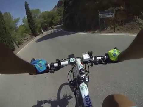Descenso por carretera de la Cresta del Gallo en El Valle y Carrascoy MTB BTT