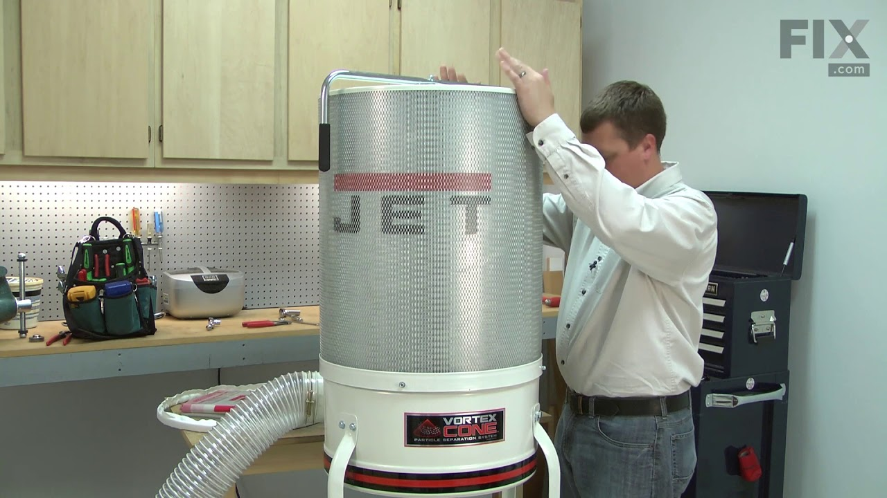 Jet Dust Collector Repair How To Replace The Canister Filter Kit