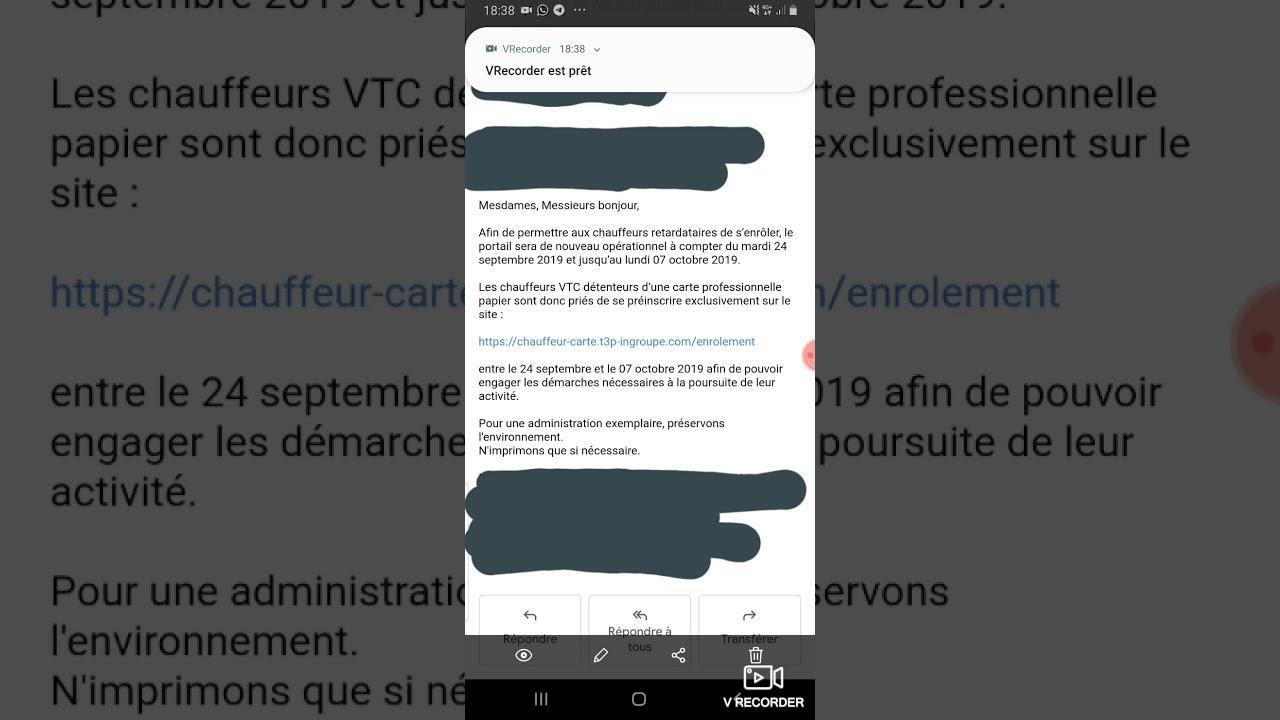 Carte Vtc 2019.Renouvellement Carte Vtc Une Delai Supplementaire A Ete Accordee