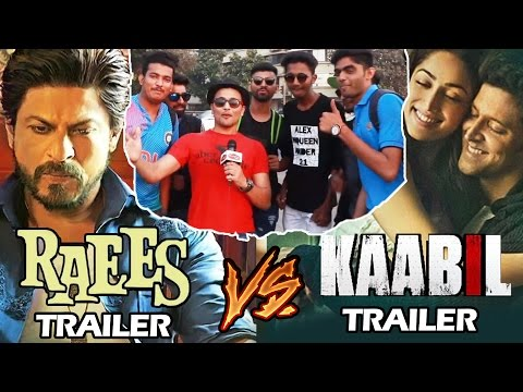 Shahrukh's Raees Trailer Vs Hrithik's Kaabil Trailer - PUBLIC REACTION - Biggest Clash 2017