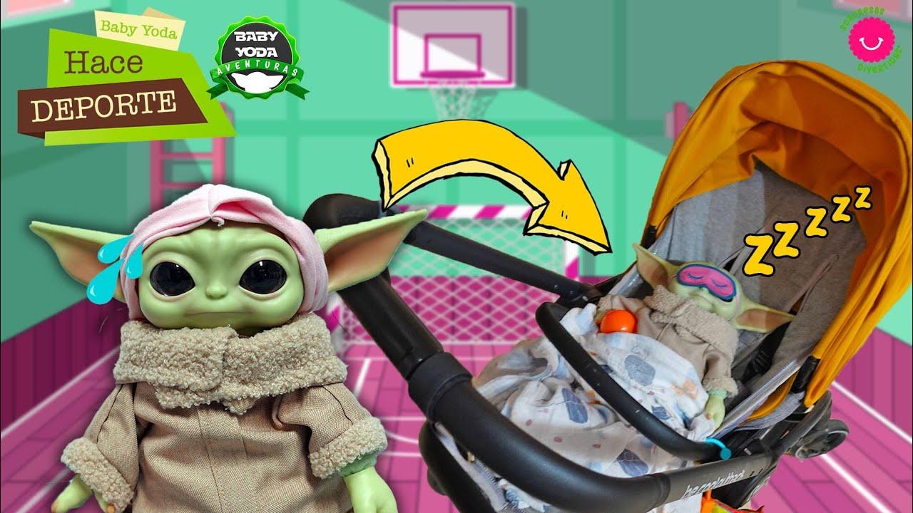 Baby Yoda hace deporte 😂