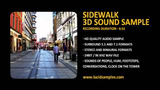 Sidewalk & People Ambience Sound Effect
