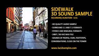 Sidewalk & People Ambience Sound Effect