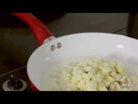 Potato Salad Soup in a Bread Boule