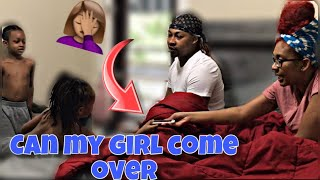 CAN MY GIRLFRIEND COME OVER PRANK ON MOM!!! (Funny kid prank)