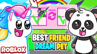 I Surprise My Best Friend with His DREAM PET! A SHADOW DRAGON! Roblox Adopt Me