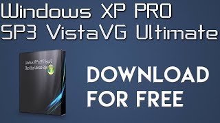 Windows XP PRO SP3 VistaVG Black Blue Ultimate Style