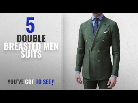 Top 10 Double Breasted Men Suits [Winter 2018 ]: BOwith Double Breasted Green Men Suits terno Slim