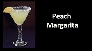 Peach Margarita Cocktail Drink Recipe