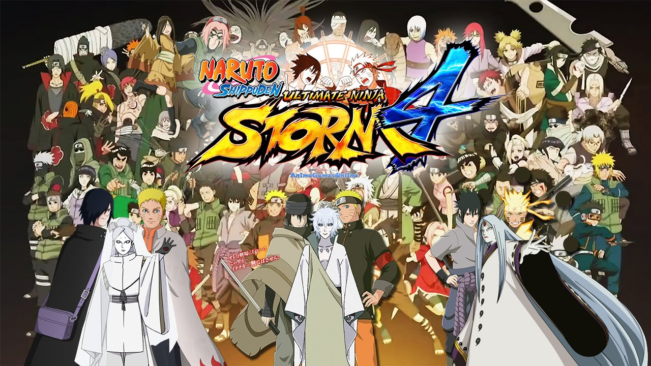 Naruto Shippuden Ultimate Ninja Storm 4 All Characters 165 Playable Wishlist Anime Games Online