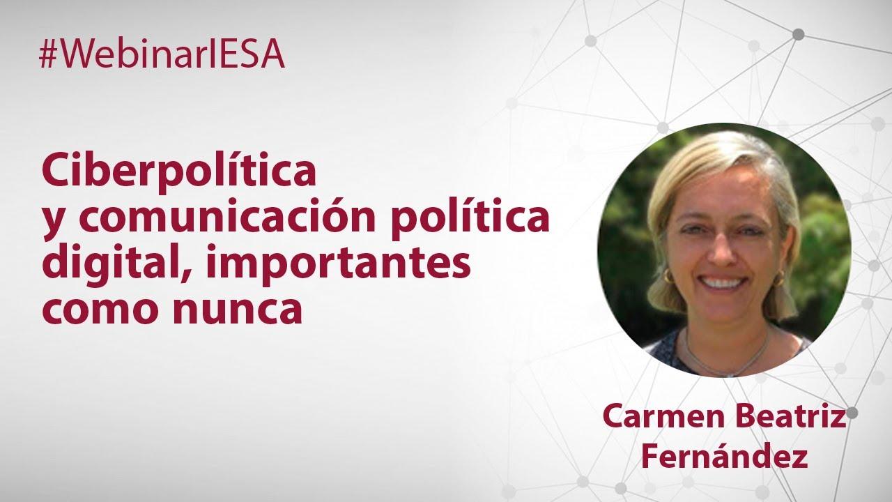 Ciberpolítica y comunicación política digital, importantes como nunca