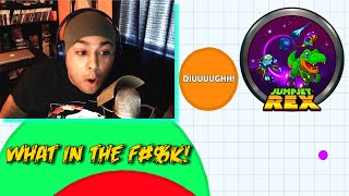 WTF AM I PLAYING!? [2 GAMES!] [AGAR.IO]x[JUMPJET REX]