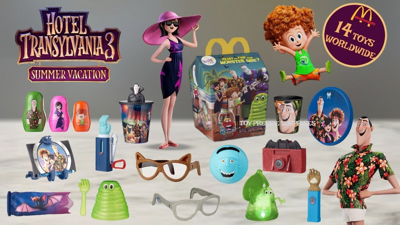 2018 Best Of Hotel Transylvania 3 Happy Meal 14 Toys Full World Set Ultimate Mcdonalds Commercials