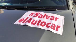 Los autónomos piden ayudas directas en una caravana por Salamanca