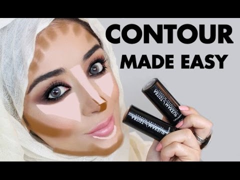 how to contour  easy stepstep contouring tutorial