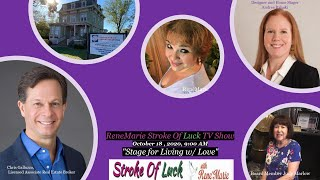 """""""Stage for Living w/ Love"""" ReneMarie Stroke Of Luck TV Show October 18 , 2020, 9:00 AM"""