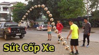 Thử thách bóng đá cùng Xuân Mạnh U23 Việt Nam sút bóng vào Cốp Xe Ô Tô