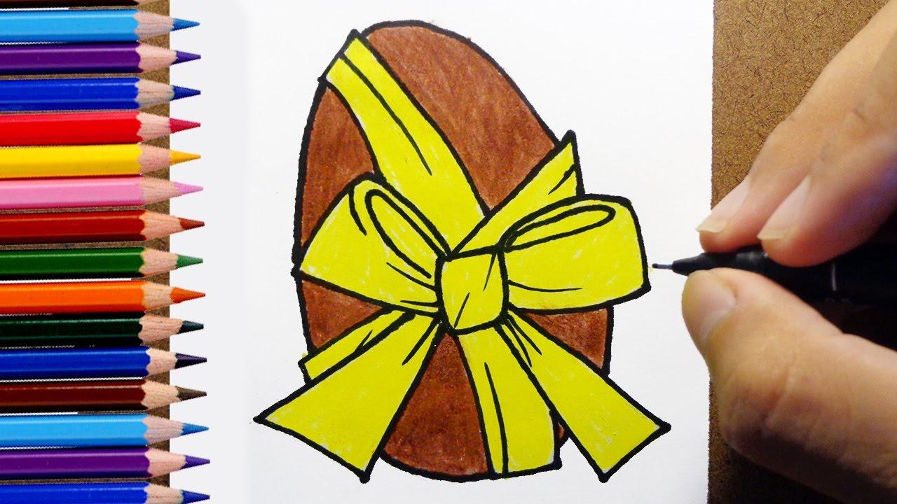 Como Desenhar E Pintar Ovo De Páscoa