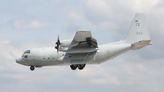 Lockheed C-130E Hercules Swedish Air Force arrival on Wednesday RIAT 2014