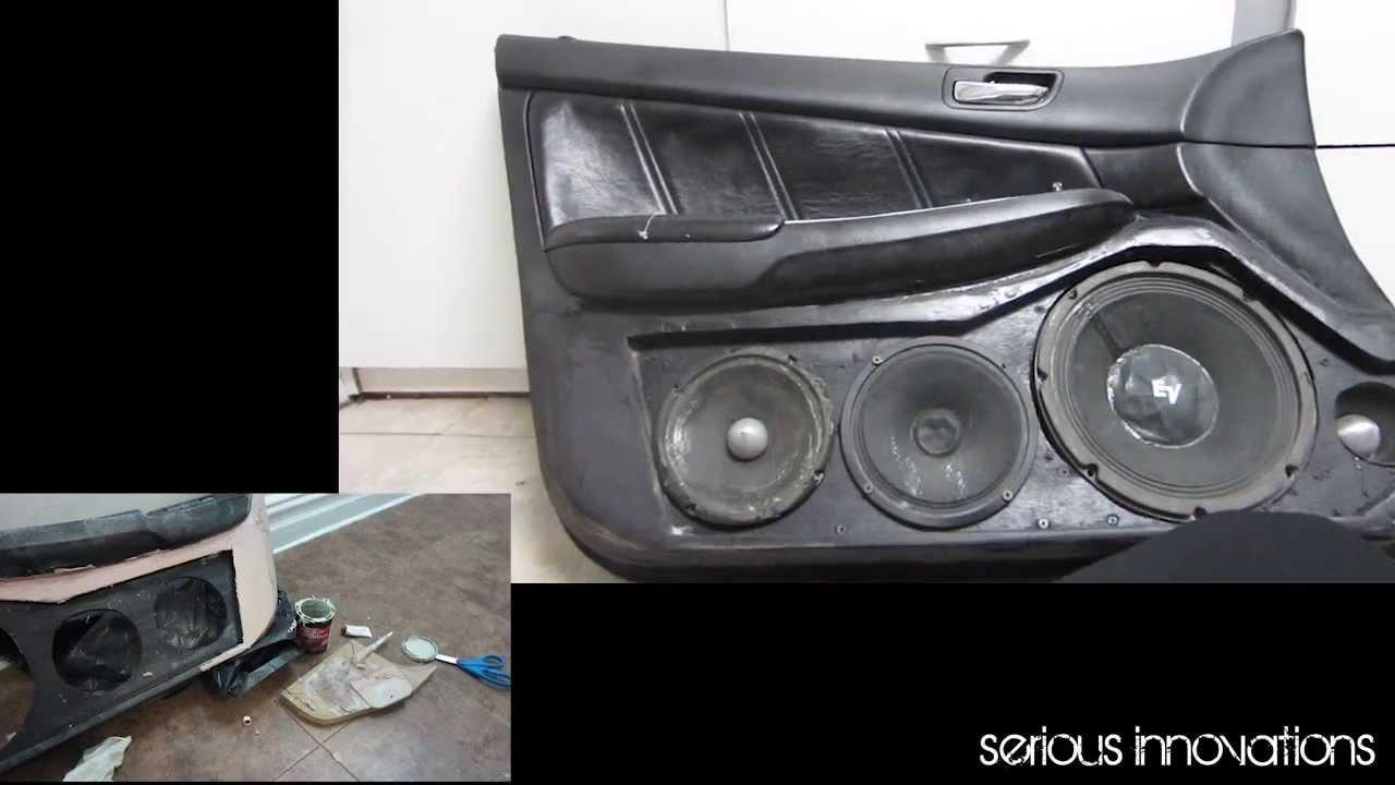 Custom door panels Honda Accord - YouTube