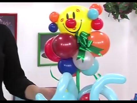 como hacer un centro de mesa para fiesta de nios con globos como payaso por juan gonzalo angel