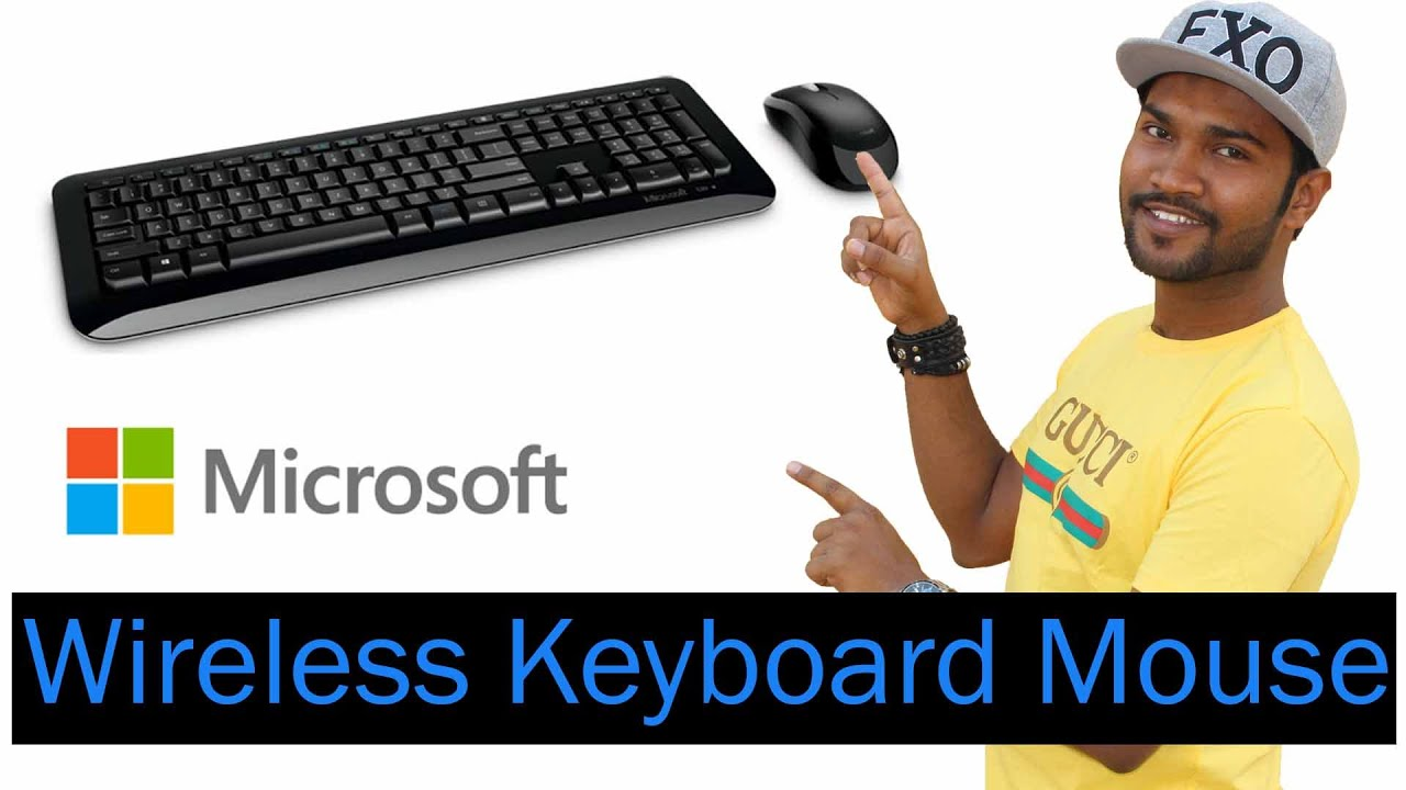 Microsoft Wireless Keyboard Mouse 800 | Unboxing | Review | Setup