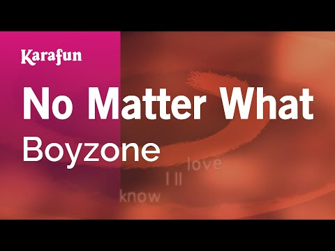 Karaoke No Matter What - Boyzone *