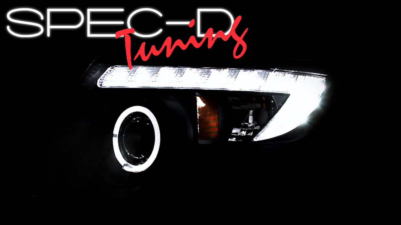 Specdtuning Demo Video   Ford Edge Led Halo Projector Headlights Youtube