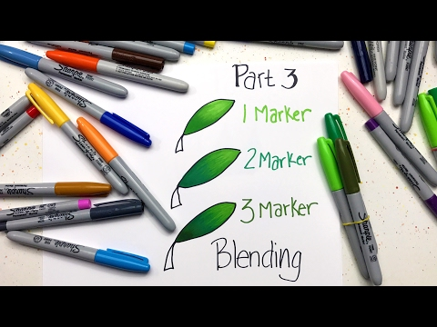 Sharpie Coloring Secrets: Part 3 - Blending