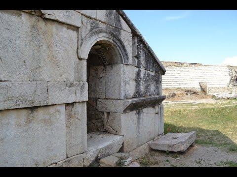 Stobi ancient town of Paeonia in Republic of Macedonia (HD Video)