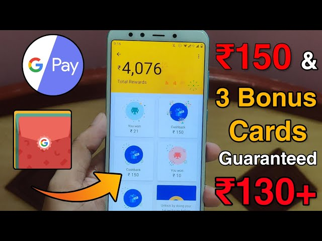 GooglePay ₹150 + 3 Bonus Scratch Cards Worth ₹8000 😍 - Limited Time Offer | GooglePay Scratch Card