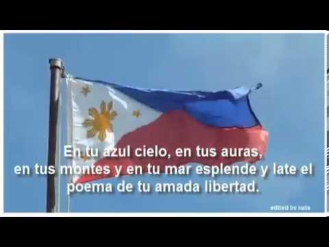 Philippine National Anthem in Espanol